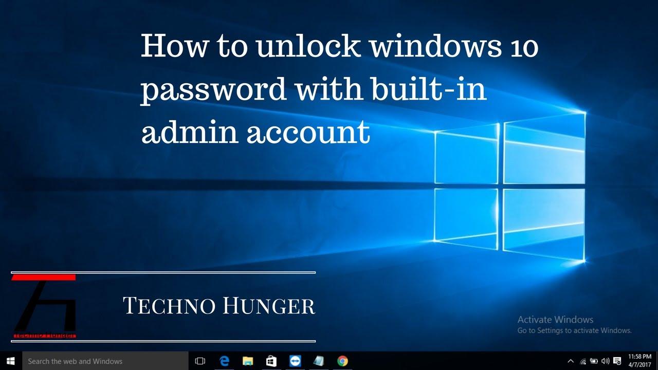 how to unlock windows 10