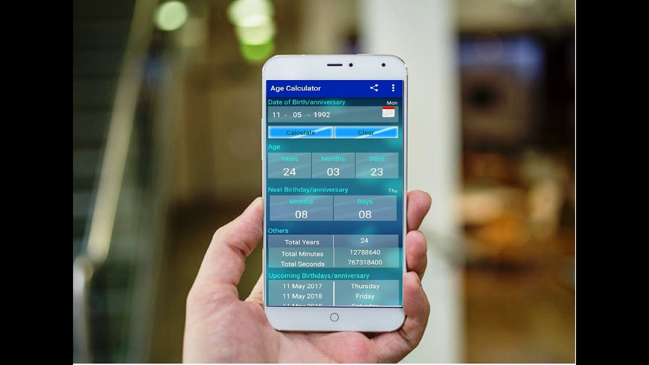 Best age and date calculator app for android phone youtube