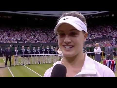 Eugenie Bouchard post-match interview - Wimbledon 2014