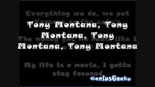 Tony Montana  - Future ft. Drake w/Lyrics on Screen *[HD]*