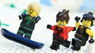 Lego NinjaGo Prank and Funny Game on Snow