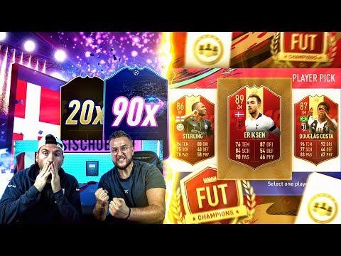 FIFA 19:UNGLAUBLICH VIELE UCL PACKS + Fut CHAMPIONS REWARDS ÖFFNEN !!!