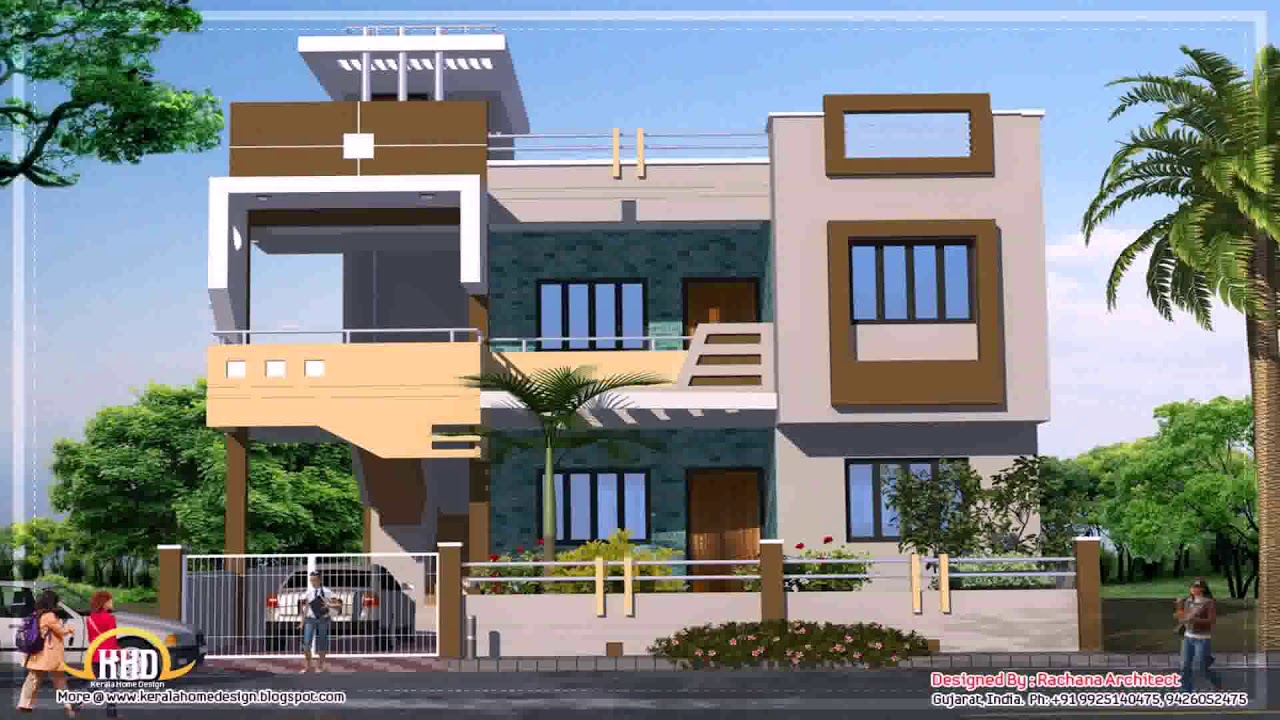 Front Design Of Row House Part - 46: Indian Row House Front Design