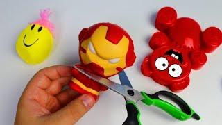 Antistress Spielzeug zerschneiden - Was steckt drin mit Lucky Bär