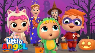 Baby Learns Trick or Treat | Little Angel Halloween Song | Nursery Rhymes & Kids Songs
