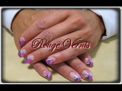 nail art tutoriel manucure double couleur avec la technique de r sine et poudre ans youtube. Black Bedroom Furniture Sets. Home Design Ideas
