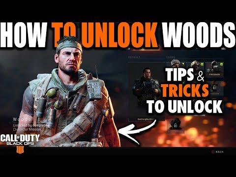 HOW TO UNLOCK WOODS IN BLACK OPS 4 BLACKOUT | How to Unlock Characters in Call of Duty Black Ops 4