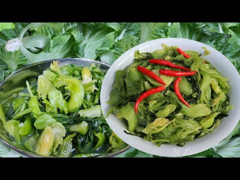 How to make Green Cabbages Picked Lao food ສົ້ມຜັກກາດຕີນຫມີ