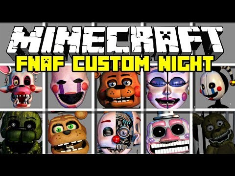 Minecraft Amazing Five Nights At Freddy's Mod | Spawn ALL FNAF Animatronics | Modded Minigame