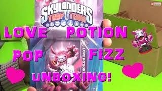 Skylander trap team love potion pop fizz unboxing with FREE CODE!