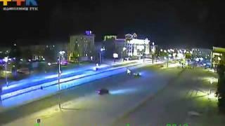 Барнаул новогодней ночью 2012: автолихачи на площади