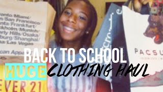 Back-to-School Series: HUGE Clothing Haul 2014 \ \ Brandy Melville, Forever21,TopShop & more!! Thumbnail
