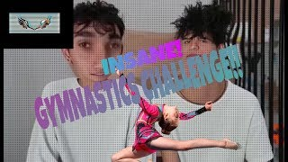 THE DOBRE TWINS GYMNASTICS CHALLENGE!! (GONE SEXUAL!)