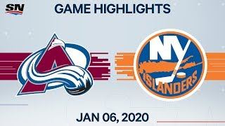 NHL Highlights   Avalanche vs Islanders – Jan. 6, 2020