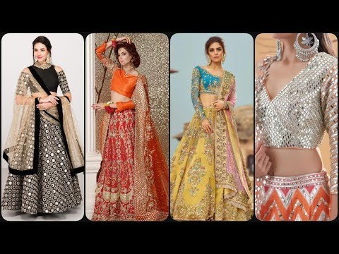 Soo Beautiful & Stylish Party Wear Mirror Work Lehenga Choli Dress Designs Collection 2019/2020