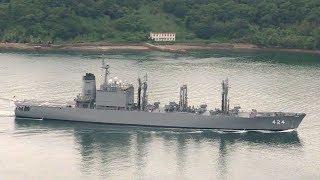 海上自衛隊補給艦はまな 佐世保出港・入港 JMSDF AOE-424 JS Hamana - 2018