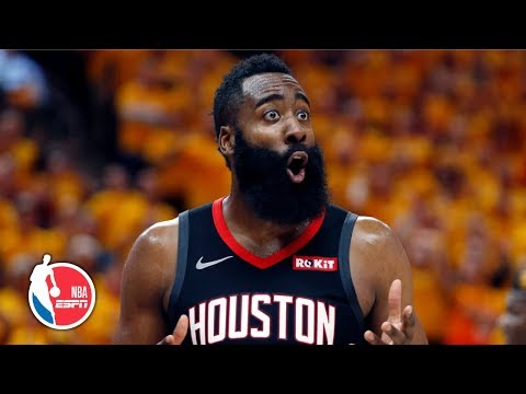 Despite James Harden's Tough Night, Rockets Beat Jazz In Game 3 | NBA Highlights