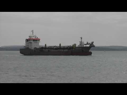 Shoalway Hopper Dredger Ship - Near Southsea - Portsmouth