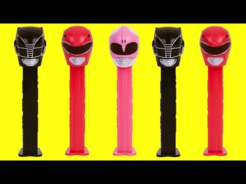 POWER RANGERS PEZ Candy Dispensers, Superhero Red, Black, Pink + Funko POP Figure Blind Box Toy TUYC