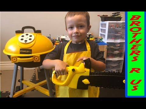 STANLEY® Jr. Toys Play Along | Toy Chainsaw | BBQ Grill | Circular Saw | Power Drill
