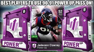 BEST PLAYERS TO USE THE 90-91 POWER UP PASS ON! 90-91 POWER UP PASS! | MADDEN 19 ULTIMATE TEAM