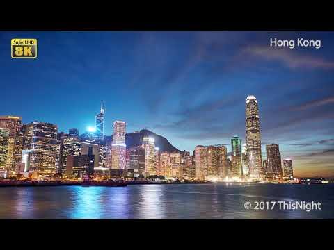 Hong Kong. Smooth Hyperlapse, timelapse. 8K Super UHD video. 4K UHD video. Demo for TV