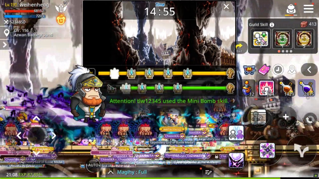 [Maplestory M - Lv. 191 Nightwalker] DAILY 9PM ROUTINE + Road to Emblem Shoulders