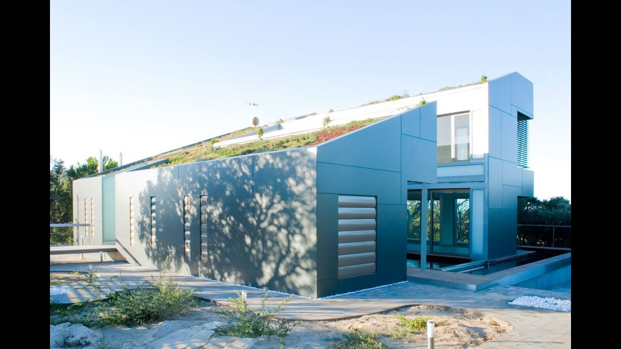 Modern house design with complete floor plan house on the hill in madrid