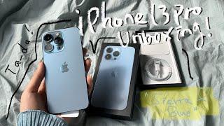 아이폰13프로 시에라블루 언박싱해요! iPhone13 …
