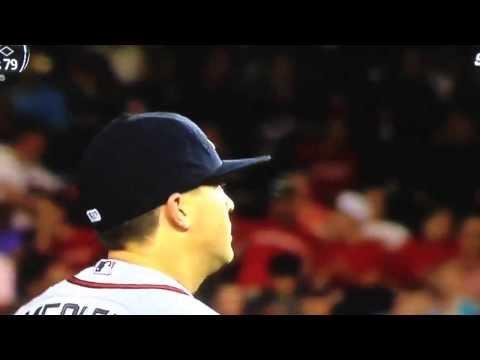 Kris Medlen saying that Bryce Harper swings so Fu#*@ hard!