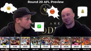 Round 20 AFL Preview by What Are The Odds?!