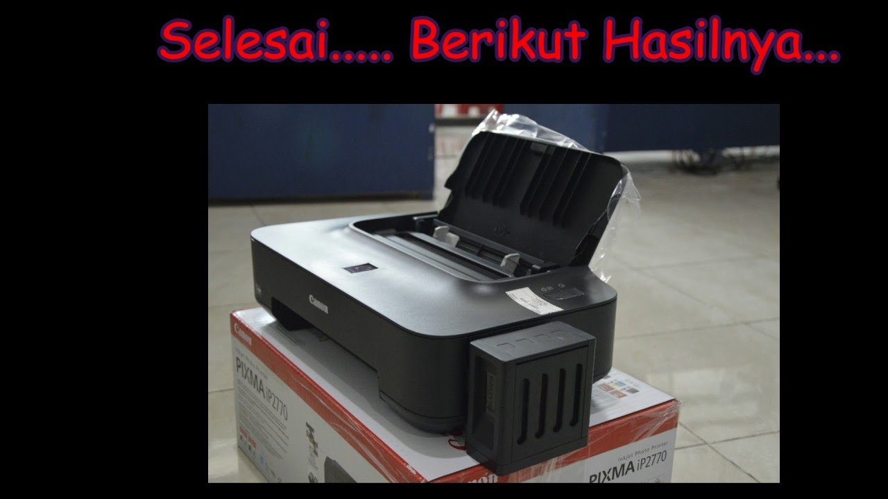 Resetter Canon Ip2770 Youtube