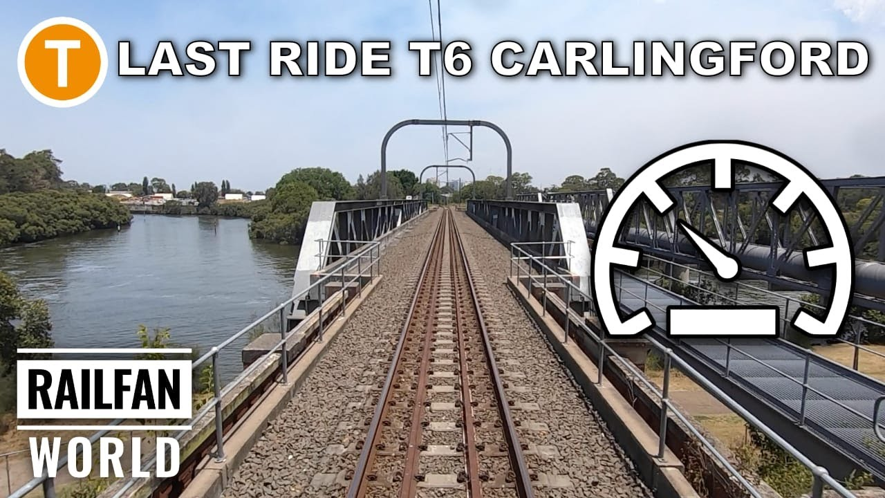Closure T6 Carlingford Clyde line | Sydney Trains | Last Red Rattler set F1 cab ride and speedometer