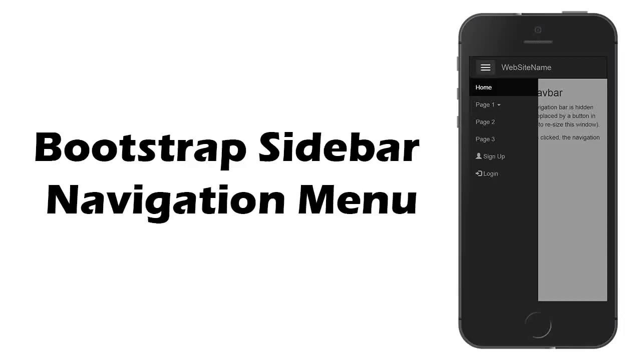 Bootstrap 3 sidebar navigation menu | How to Create Bootstrap Sidebar  Navigation Menu