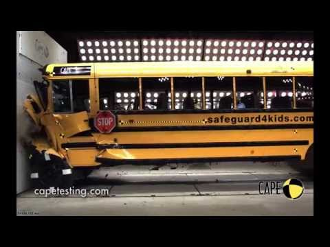School Bus Crash Test Inside & Out