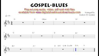 Medium tempo Gospel-Blues to practice along with.