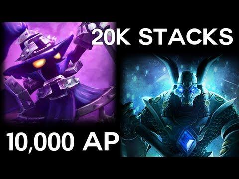 Veigar Highest AP 10,000 Record, 18k Stacks Nasus, 9 Hour game, 12,000 CS - League Of Legends