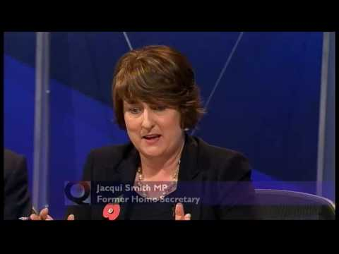 Jacqui Smith makes an arse of herself over MPs Expenses part 1 (Question Time, 29.09.09)