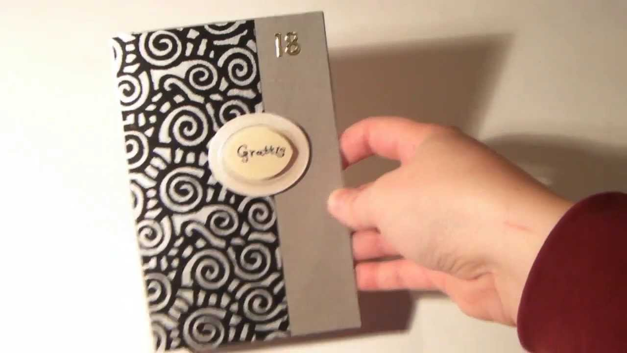 Handmade Birthday Cards For Guys 18 ~ Manly silver and black th birthday card youtube