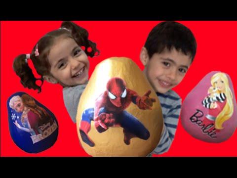 Super Giant Surprise Egg Video Spiderman, Frozen, Barbie Toys- 1H Compilation!