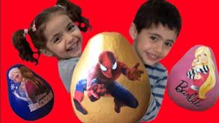 super giant surprise egg video spiderman frozen barbie peppa pig toys 1h compilation