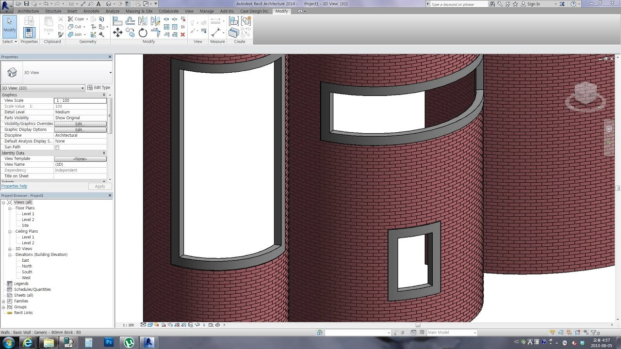 Revit Tips Adaptive Curved Frame For Curved Walls Youtube