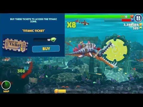(NEW) TITANIC TICKET ! ARCTIC OCEAN - Hungry Shark Evolution