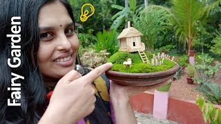 How to make a beautiful house with Fairy Garden,Cute Fairy Garden,Miniature Garden Ideas,Building a beautiful Wooden Cute House Items Required Clay Pot ...