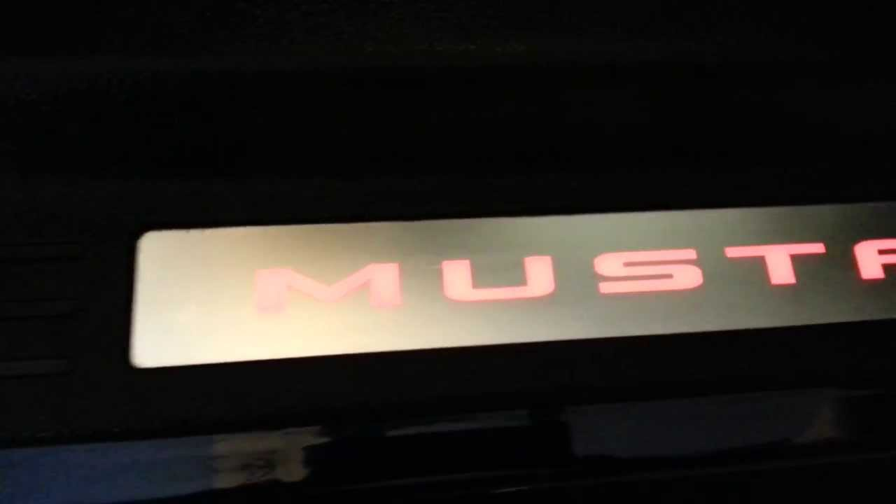 2012 Ford Mustang GT - Cool LED Accent Lighting - Door Sill Plate ...