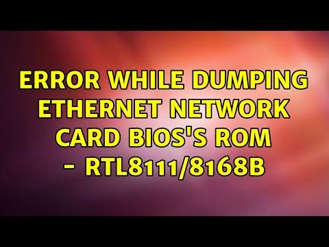 Ubuntu: Error While Dumping Ethernet Network Card BIOS's ROM - RTL8111/8168b