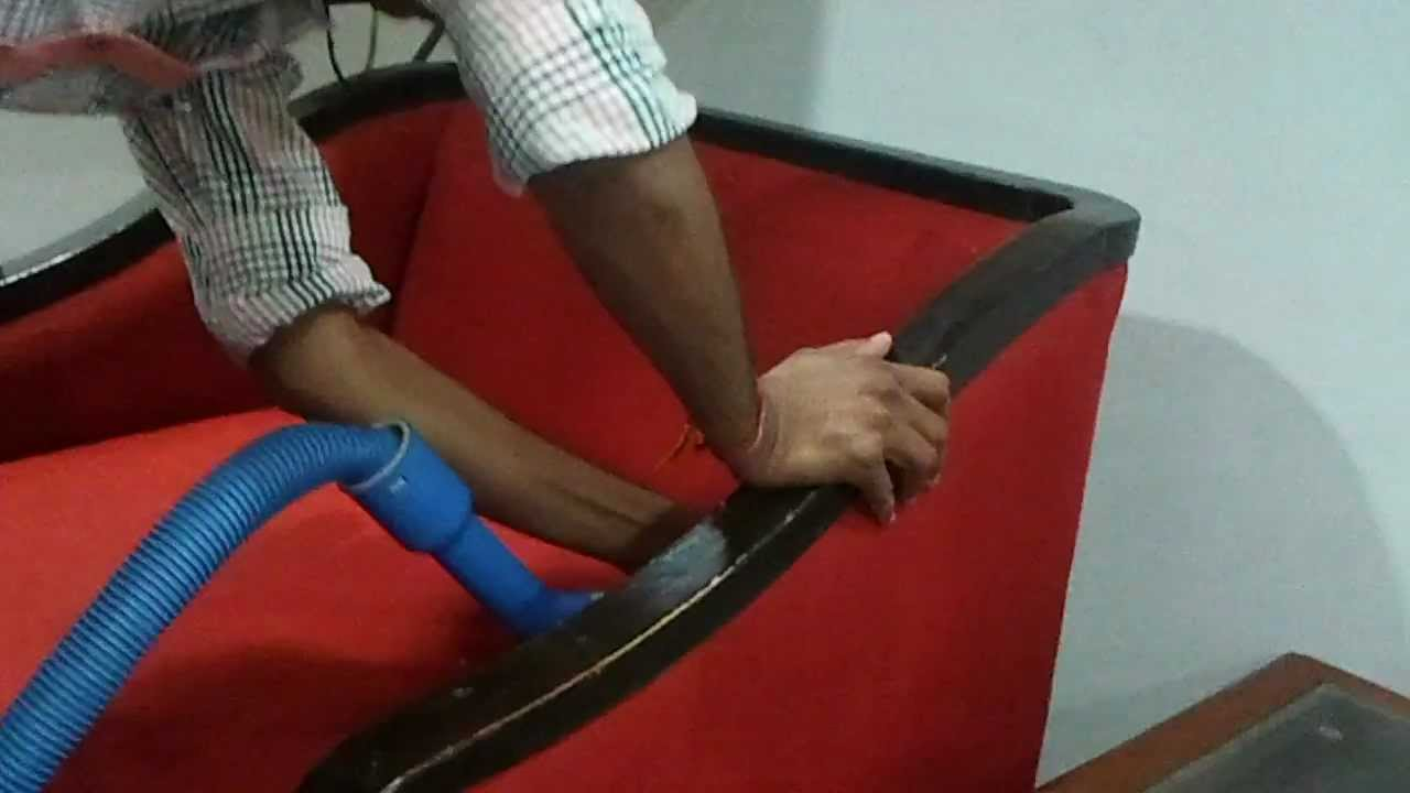 Sofa VacuumShampooSteam Cleaning by Magic Duster at Ahmedabad  wwwmagicdusterorg  YouTube