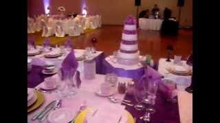 Purple Wedding Decor And Backdrop Toronto