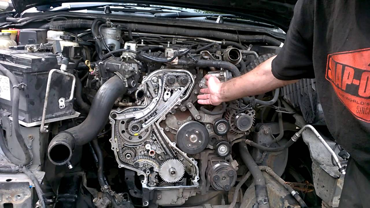 How To Do Nissan Timing Chain Upgrade With Engine Still In