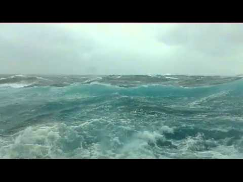Rough seas on the Carnival Pride, Nov 5th 2011. Ocean view cabin turns into submarine view!
